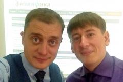 Сафронов Н.В. и Гурентьев С.А. перед выступлением на онлайн семинаре